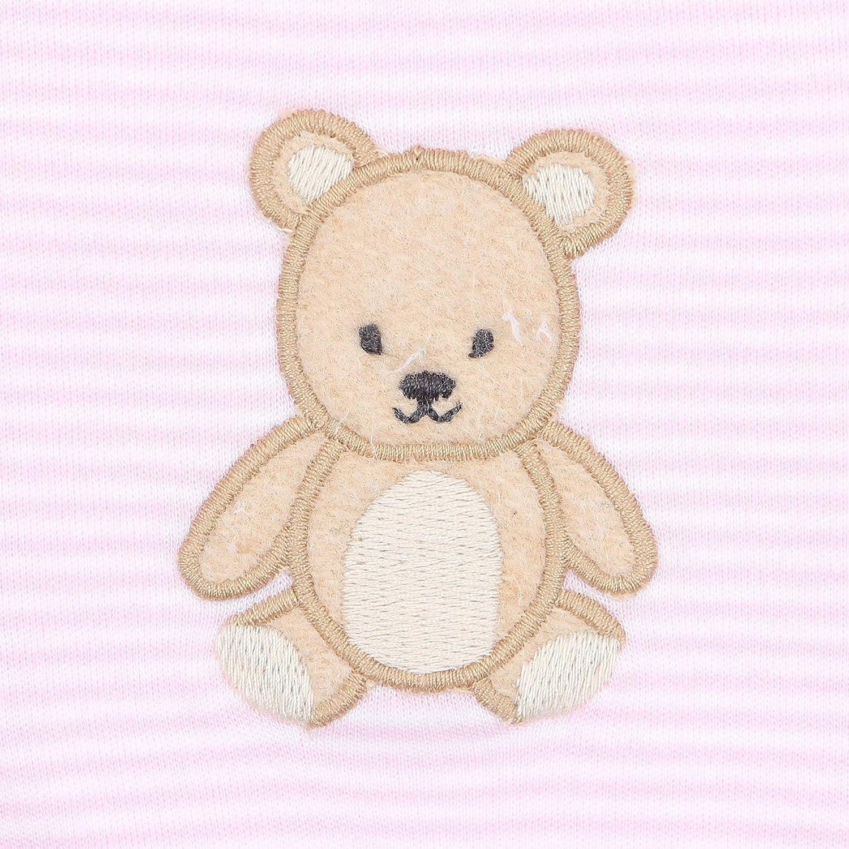Magnolia Baby Baby Girl Teddy Applique Hat Pink
