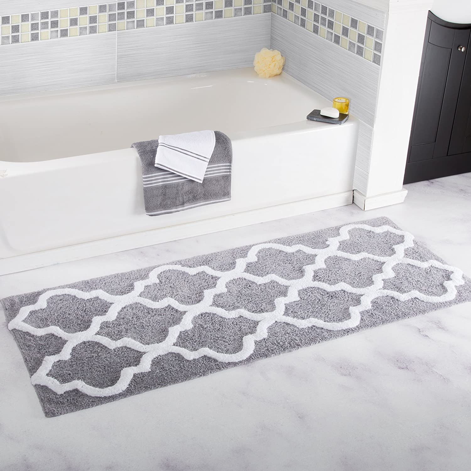 hardware romanesque mats memory shop x foam com at shower roth border allen in bathroom polyester pl lowes accessories rugs bath