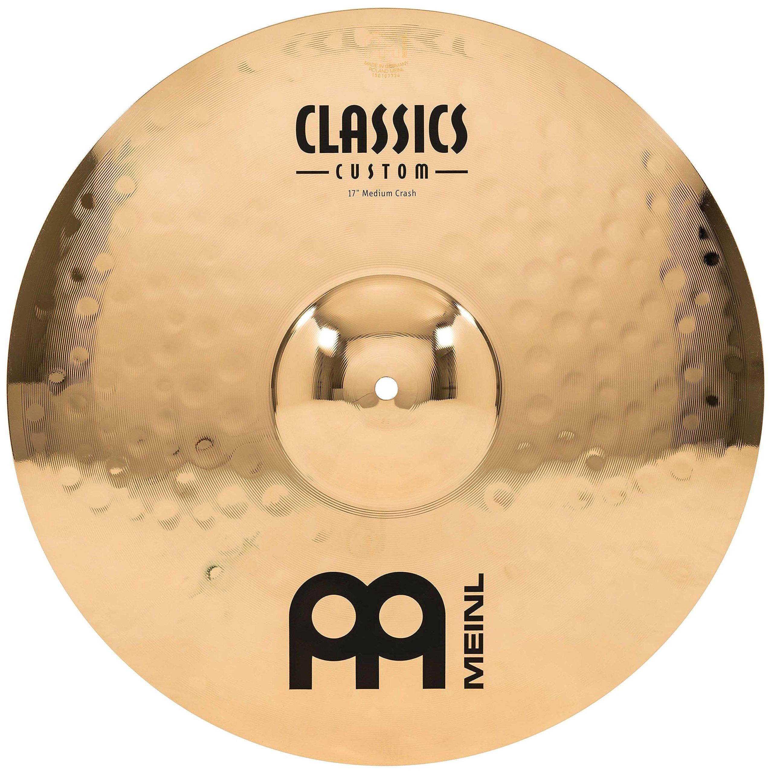 Meinl 17'' Medium Crash Cymbal  -  Classics Custom Brilliant - Made in Germany, 2-YEAR WARRANTY (CC17MC-B) by Meinl Cymbals