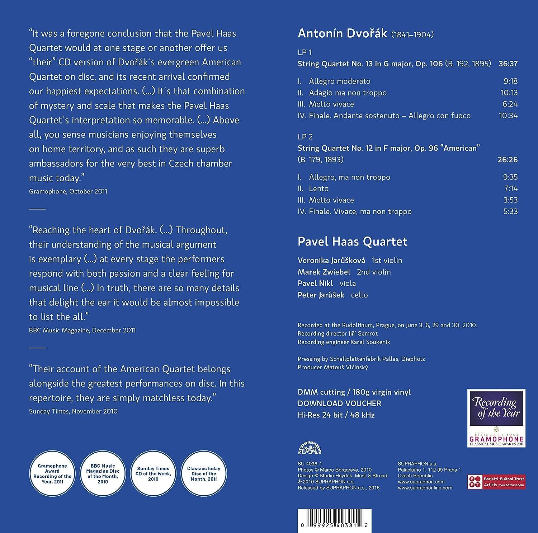 Dvorak-String Quartets Op  106 & 96