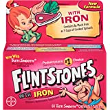 Flintstones Children's Multivitamin plus Iron Chewable Tablets, 60-Count