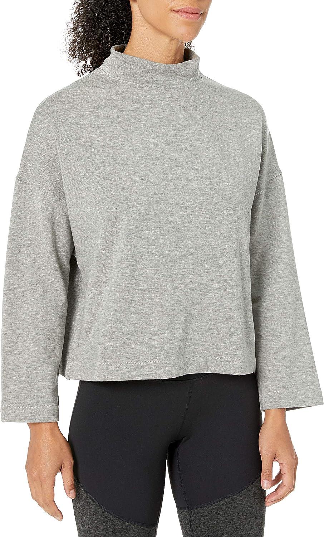 Core Products womens Yoga CoreCloud Fleece Mock Dolman Sweatshirt Sweatshirt