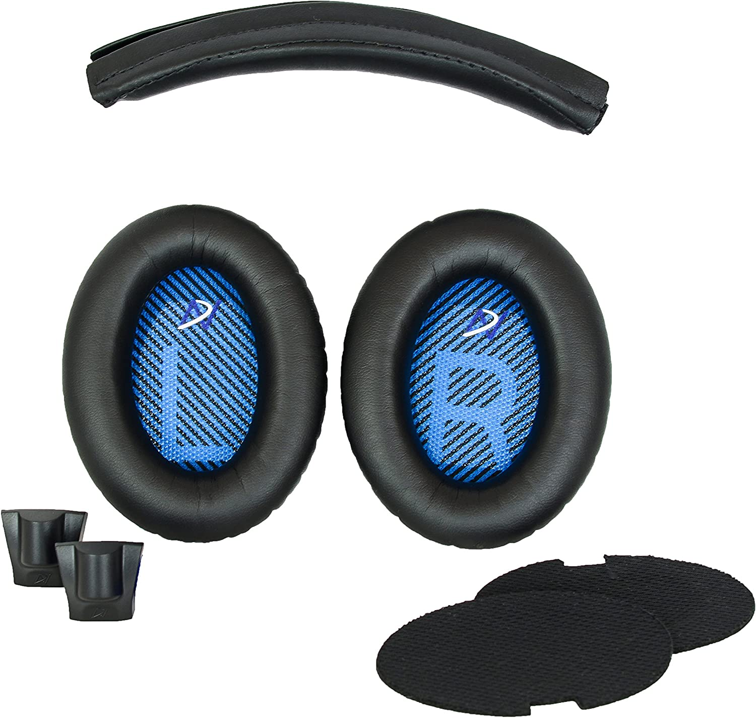 Replacement Ear Pads and Headband Cushion pad Compatible with Bose QuietComfort 15 (QC15) and QuietComfort 2 (QC2) Headphones