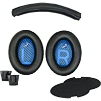 Replacement Ear pads and Headband Cushion pad for Bose Quiet Comfort 2 (QC2) and Quiet Comfort 15(QC15) Headphones (QC2 and QC15, Black) THE HEADBAND IS NOT COMPATIBLE WITH ANY OTHER HEADPHONE MODELS