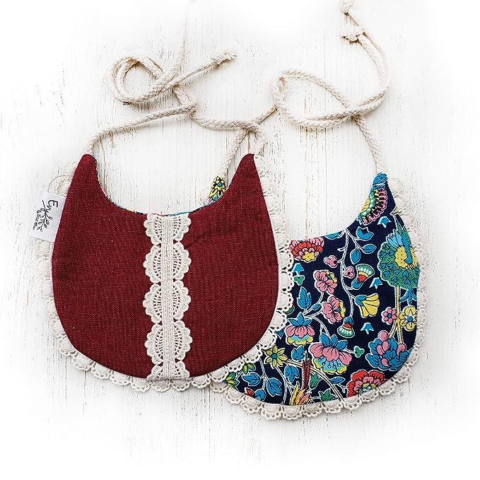 Triple Layer Chenille Vintage Trailer Baby Bib /& Burp Cloth Set for Baby Girl Pink VINTAGE TRAILER Mint New!