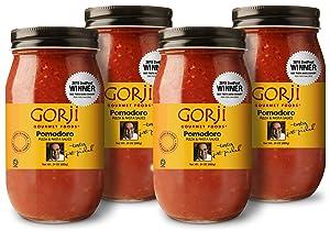 Gorji Gourmet Pomodoro Pizza & Pasta Sauce 24 oz (Pack of 4)
