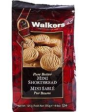 Walkers Pure Butter Mini Shortbread Rounds Cookies, 125 Gram