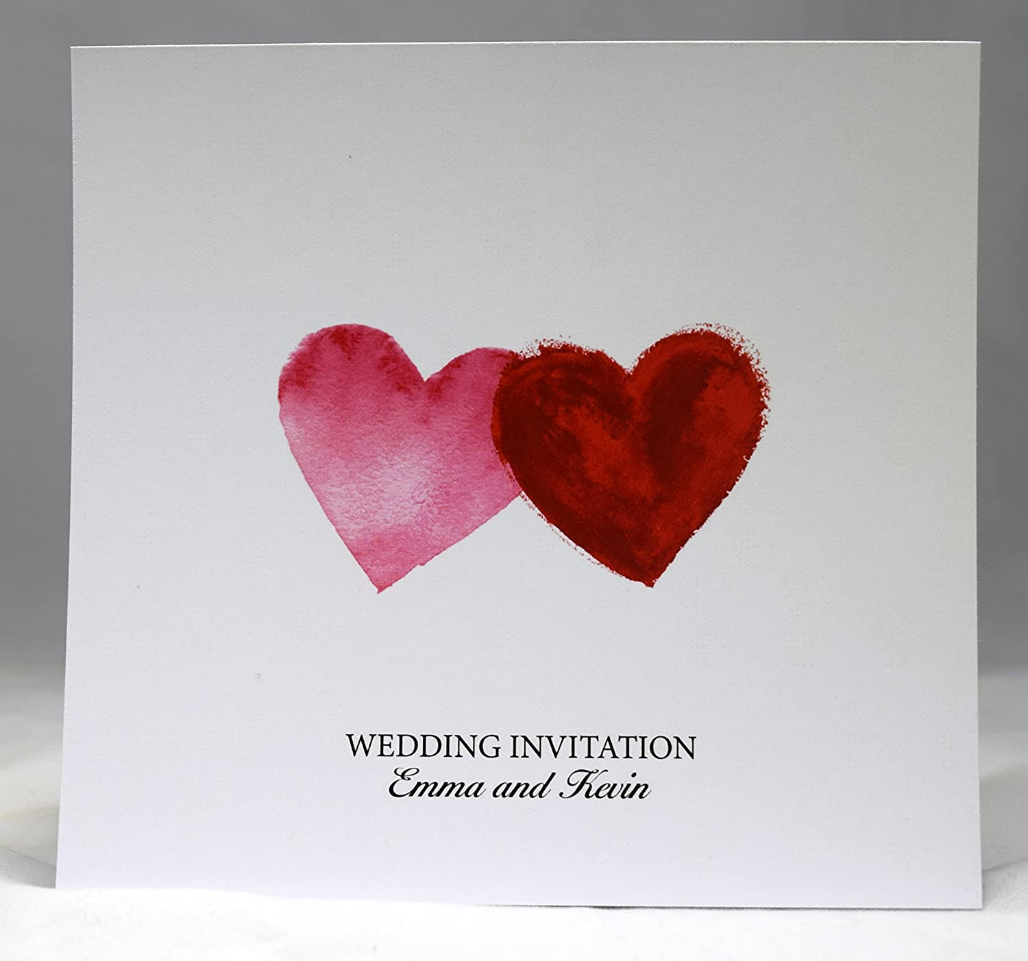 Wedding Invitations Personalised Double Sided Day or Evening Invites ...