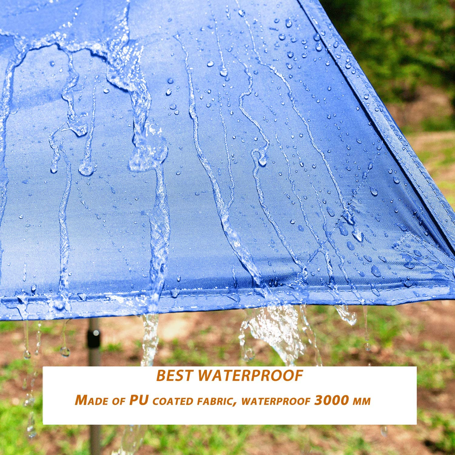 Picnic Or Beach Waterproof and UV-Resistant Camping Tent Tarp Perfect for Hammock Fishing Hiking 118.1 x 196.8 inches,Blue KingCamp Rain Fly Tarp-Lightweight Portable