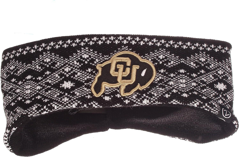 NCAA Zephyr Colorado Buffaloes Womens Frost Bite Knit Headband Team Color Adjustable