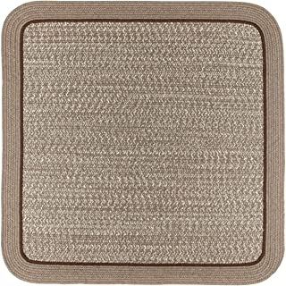 product image for Rhody Rug CC38R048X048S 4 ft. Casual Comfort Mocha Banded Braided Rug44; Square