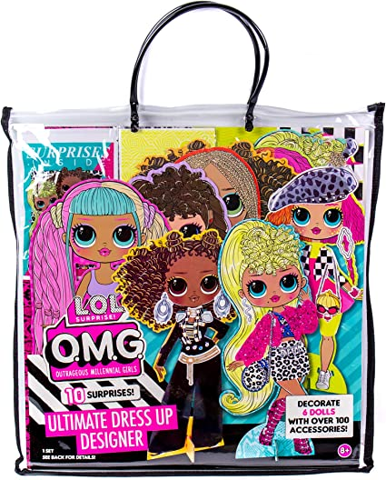 Amazon.com: LOL OMG Ultimate Dress Up Designer by Horizon Group USA.Decorate 6 Dolls With Over 100 Accessories.DIY Fashion Craft Kit.Open Blind Bags,Mix & Match 25 Woven Fabrics.Stencils & Fabric Included: Toys & Games