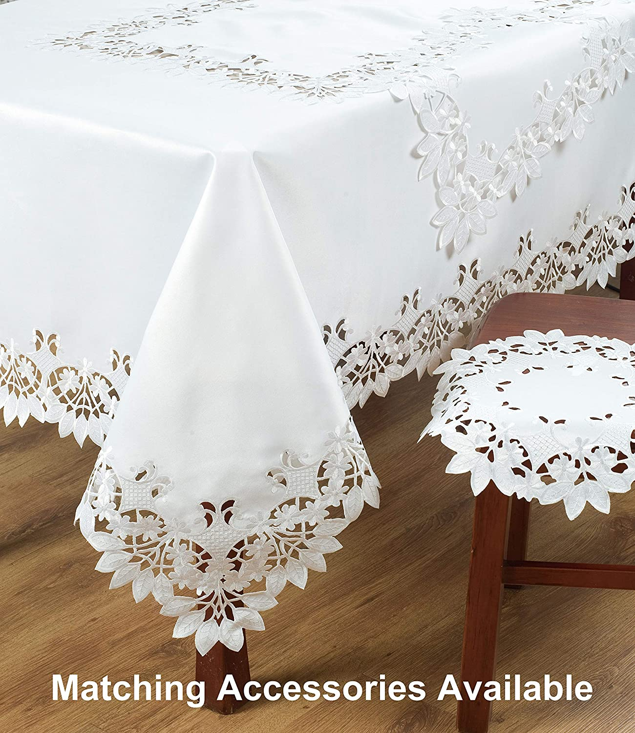 Decozen Placemats for Dining Table Coffee Table Kitchen Table with Intricate cutouts Embroidery and Elegant details for Kitchen Decor 20x14 Set of 6