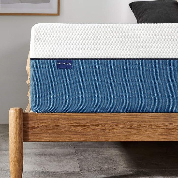 Full Mattress, Iyee Nature 10 inch Gel Memory Foam Mattress in a Box, Foam Bed Mattress Medium Firm Foam Mattress