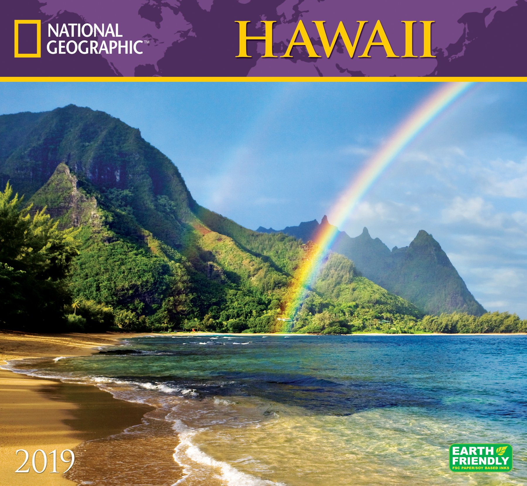 national geographic hawaii 2019 wall calendar