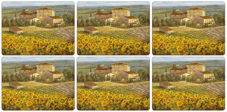dise/ño de paisaje de Toscana Juego de manteles individuales 6 unidades Pimpernel