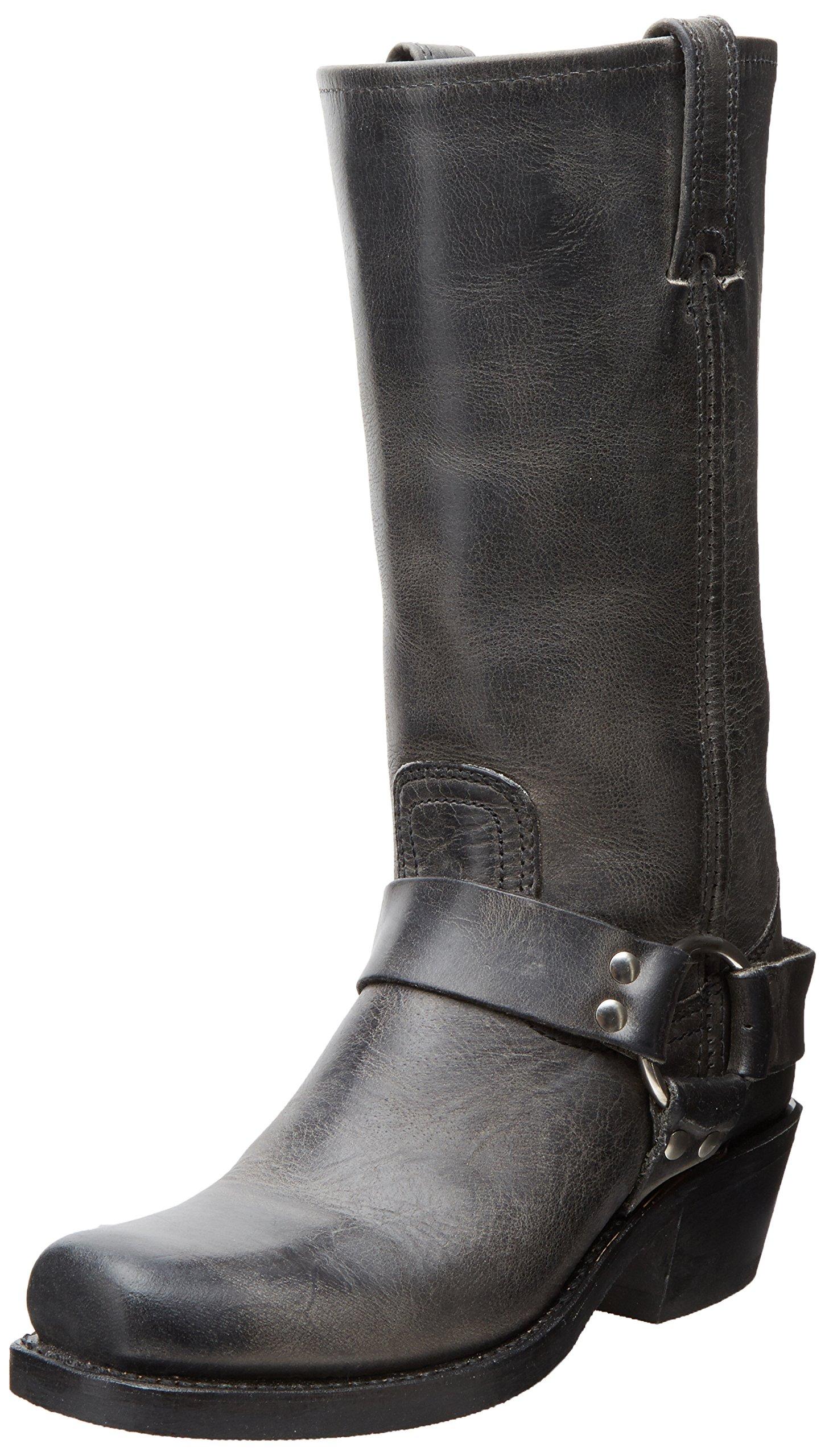 FRYE Women's Harness 12R Boot, Charcoal, 6.5 M US
