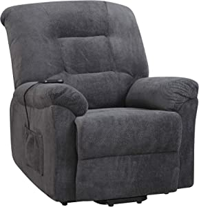 Coaster Home Furnishings Charcoal Jeronimo Power Lift Recliner