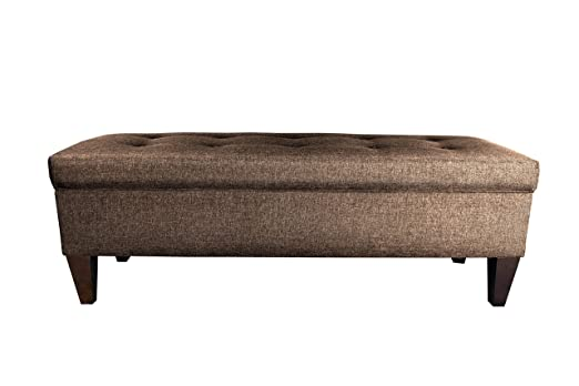 Amazon.com: MJL Furniture Designs Brooke Collection Diamond Tufted  Upholstered Long Bedroom Storage Bench, Sandy Series, Brown: Home U0026 Kitchen