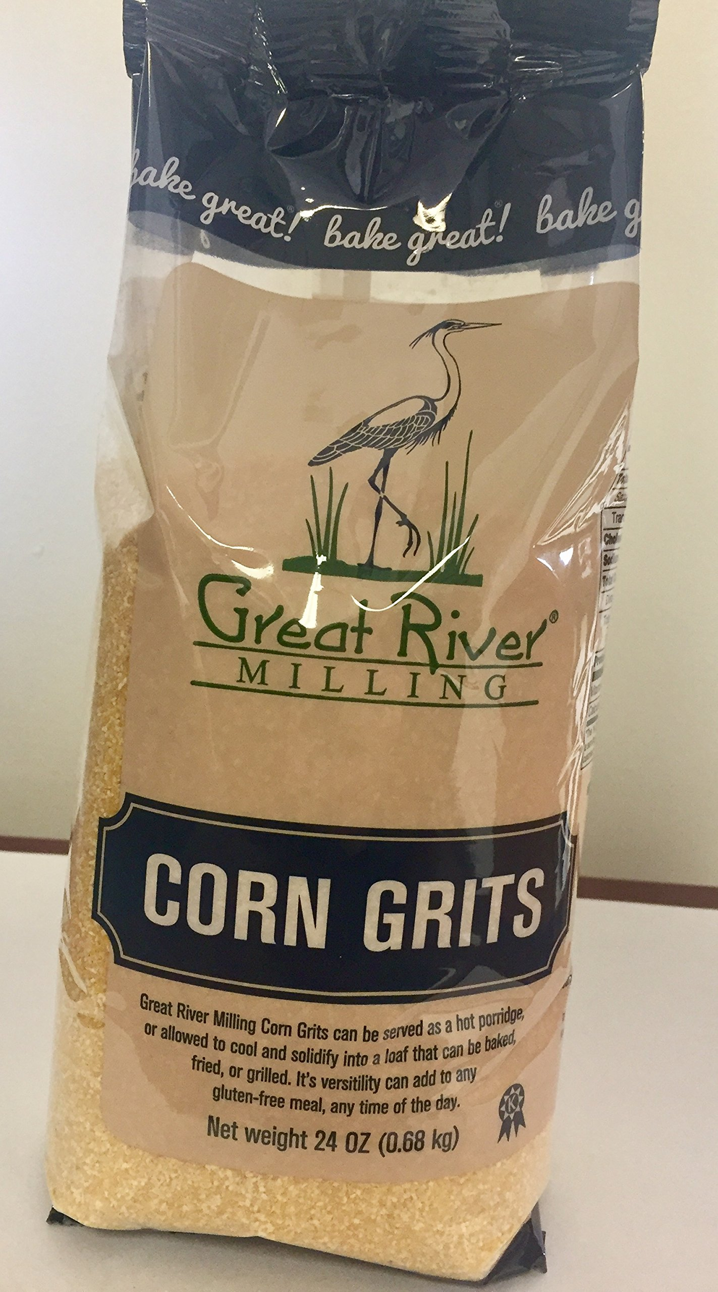 Great River Milling Corn Grits, 24 ounces (Pack of 4) by Great River Milling