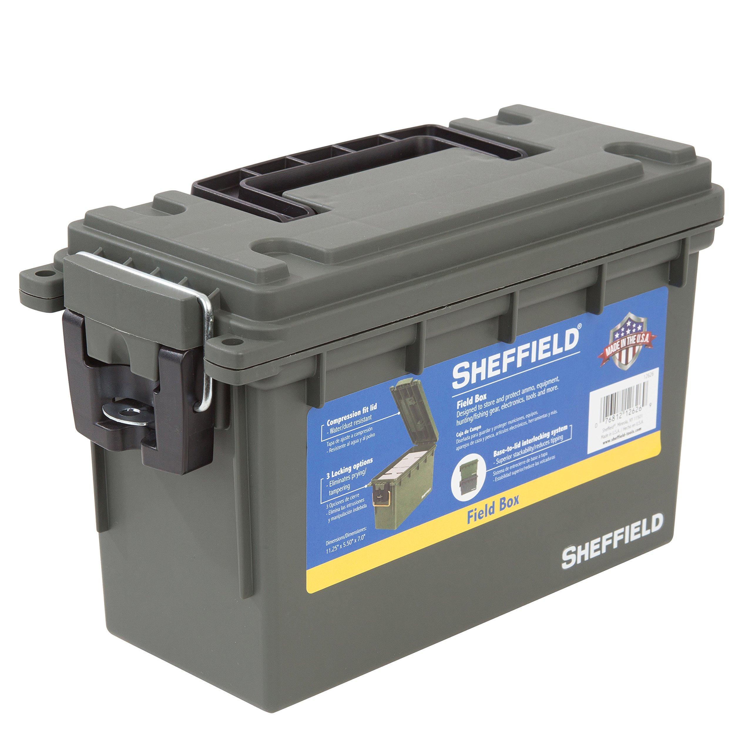 Sheffield 12626 Field Box- Olive Drab Green