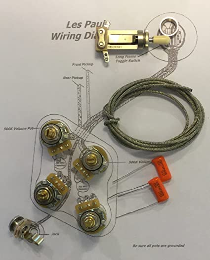 [DIAGRAM_3US]  Amazon.com: TAOT Wiring Kit for Gibson Les Paul - Long Shaft - CTS 500K Pots  Orange Drop Caps: Musical Instruments | Details About Wiring Harness For Les Paul Cts Pots |  | Amazon.com