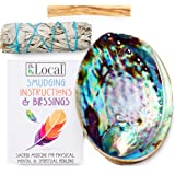JL Local Origins Smudging Kit - White Sage Smudge Stick + Palo Santo + Abalone Shell Bowl | Sustainably Sourced Healing…