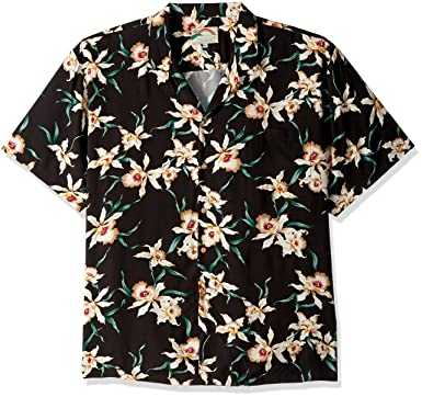 a6c6f738 Paradise Found Star Orchid Black Tom Selleck Magnum PI #2 Hawaiian Shirt  BLACK S