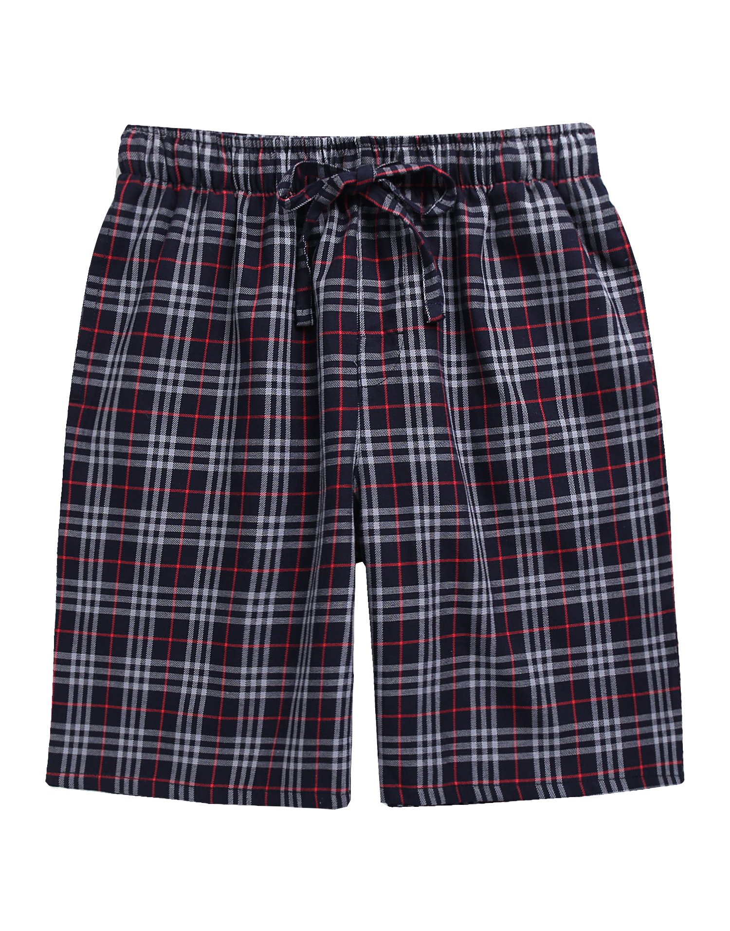 TINFL Boys Soft Cotton Plaid Check Sleep Lounge Shorts BSP-SB002-DarkGrey M