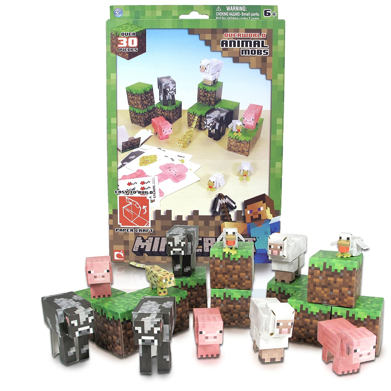Amazon minecraft papercraft animal mobs set over 30 pieces amazon minecraft papercraft animal mobs set over 30 pieces toys games jeuxipadfo Images