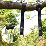 Tree Swing & Hammock Hanging Kit Straps -Two 5 ft Straps Holds 2200 lbs. -Attaches 2 Heavy Duty Carabiners Hook, Easy & Fast Swing Hanger Installation,No Stretching-Better than Swing Rope & Chain!