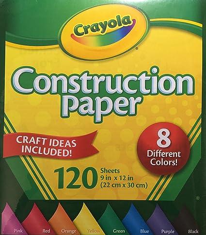 Crayola papel de construcción, 8 colores diferentes, 120 hojas ...