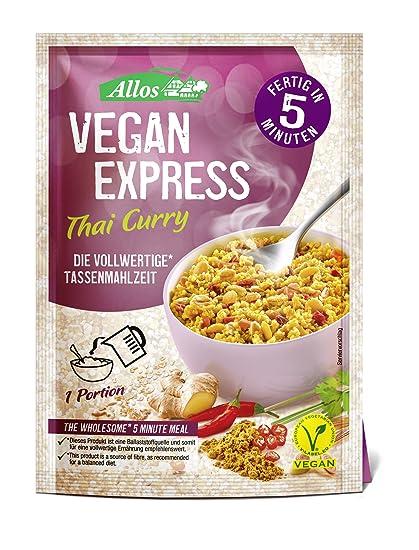 Allos Vegan Express Thai Curry Precocinado - Paquete de 12 x 65 gr - Total: