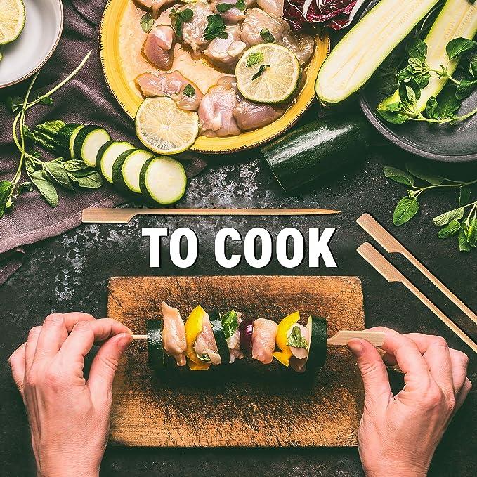 Pique Brochettes en Bois pour Barbecue BBQ Ap/éritif Hamburgers Viande Fruits Cocktails F/êtes Buffets Pique-niques| pour une Prise Confortable 250 Brochettes Bambou Pagaie 18cm Style Japonais