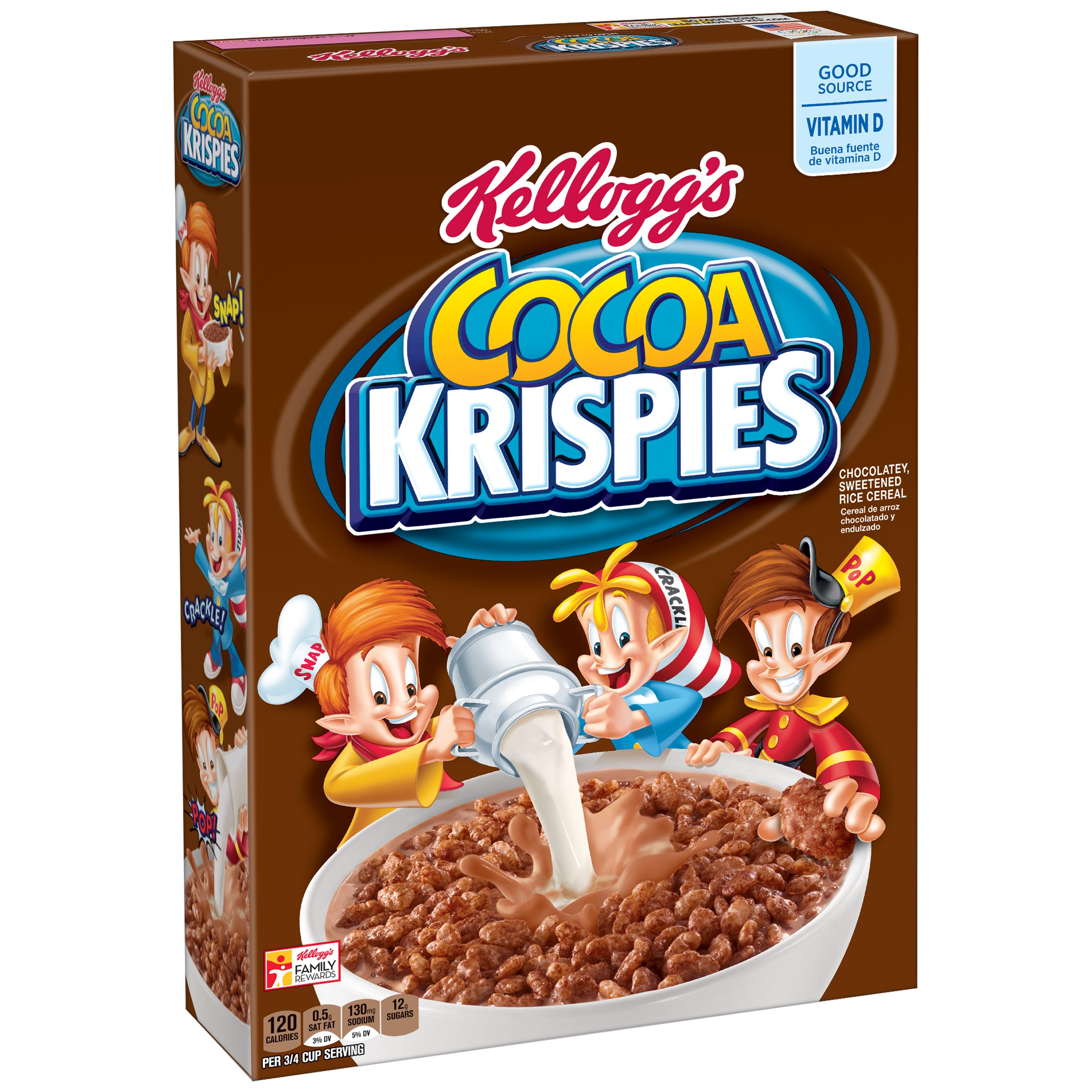 Kellogg's Cocoa Krispies Breakfast Cereal, 15.5 Ounce Box (Pack of 4)