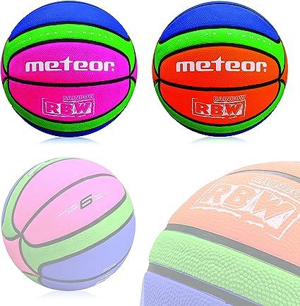 meteor Pelota de baloncesto celular Rainbow #6, rosa - verde ...