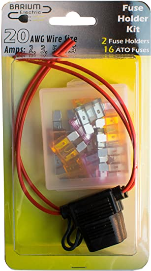 Amazon.com: 2-pack 20 Gauge Fuse Holders IN LINE, WITH FUSES - 20 ...