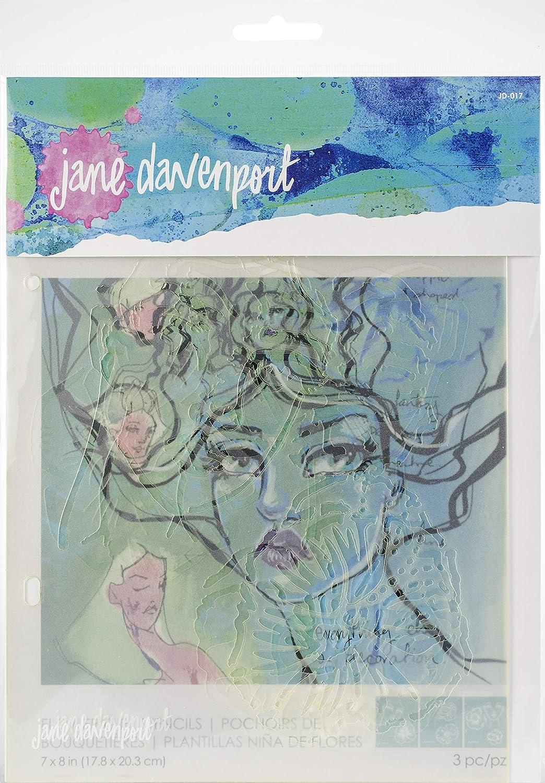 7 x 8-inch Spellbinders Jane Davenport Stencils-Flower Girl