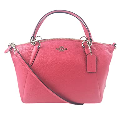 Image Unavailable. Image not available for. Color  Coach Pebble Leather  Small Kelsey Satchel Crossbody Bag (Strawberry Pink) c7bc1ced64