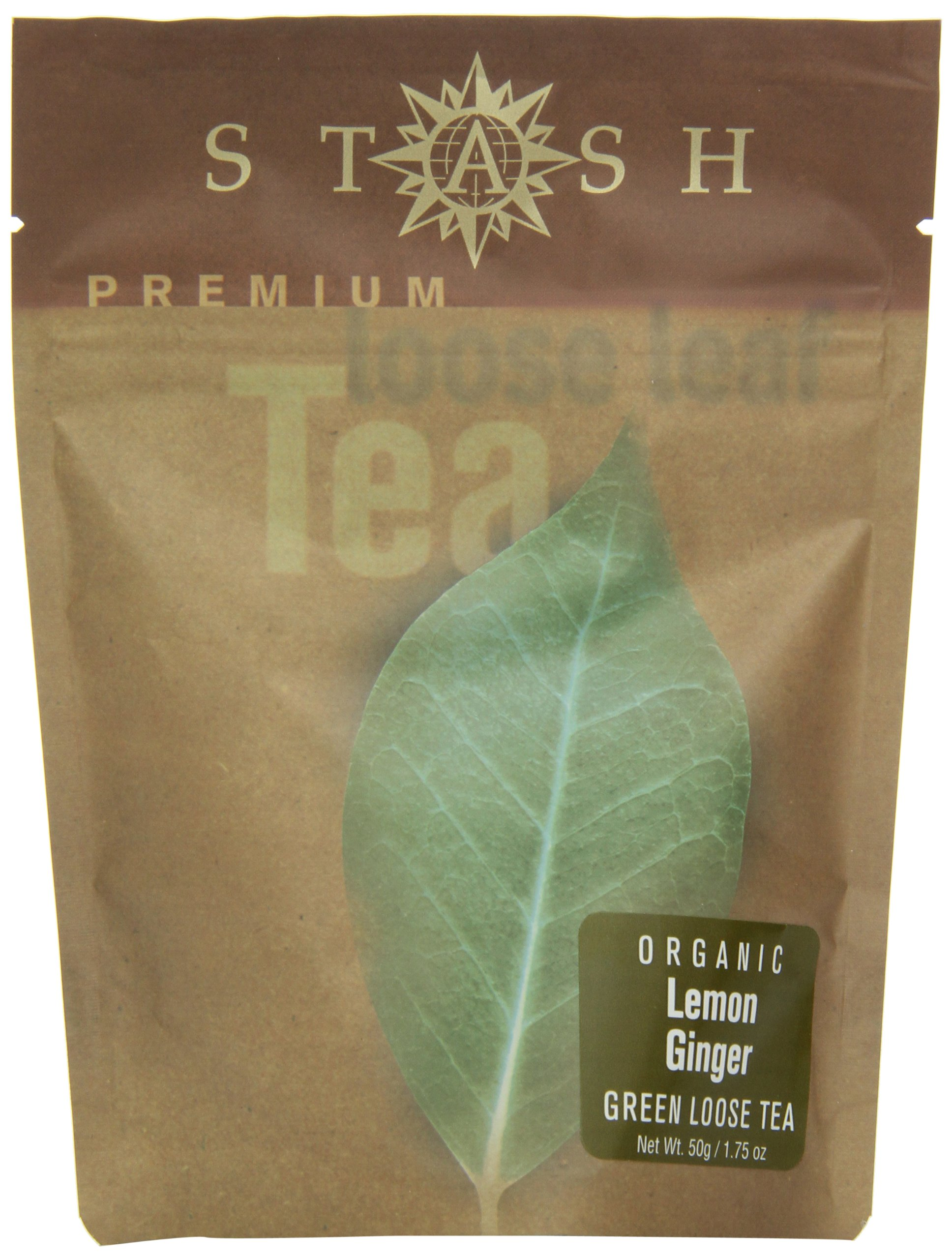 Stash Premium Organic Lemon Ginger, Loose Leaf Tea, 1.75 Ounce Pouches by Stash Tea