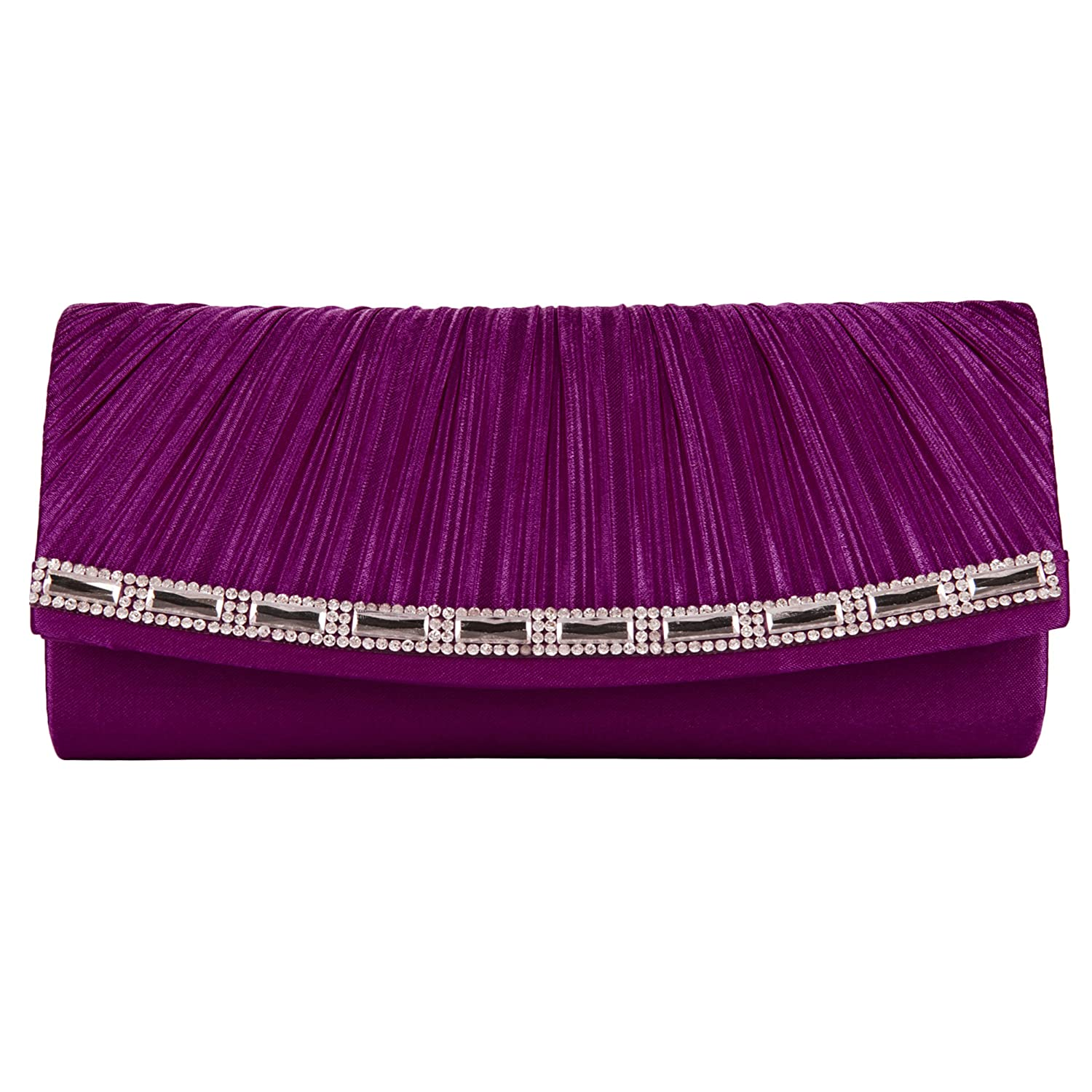 VanGoddy Mildred Collection Women/'s Diamond Clutch Handbag Carrying Case