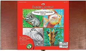 Faber-Castell Young Artist Essentials Gift Set - 64-Piece Premium Quality Art Set for Kids
