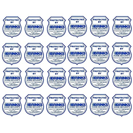 Amazon com: BRINKS Home Security Window Warning Sticker Signs 24 Lot