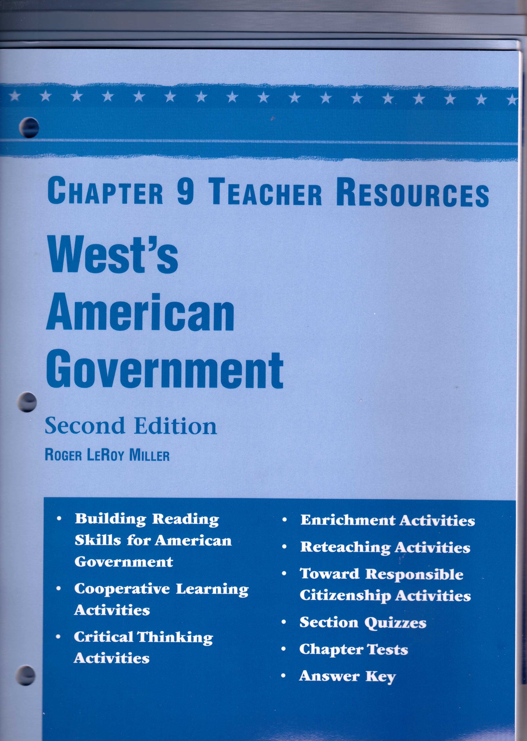 West's American Government, 2nd ed , TEACHER RESOURCES, Unit