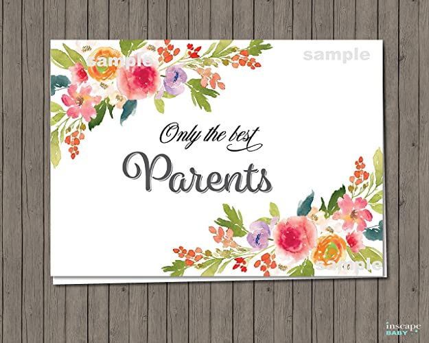 Amazon Pregnancy Announcement Card Only the Best Parents – Baby Announcement to Parents