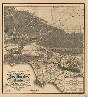 Amazon.com: MAP LOS ANGELES 1909 VINTAGE LARGE WALL ART PRINT ... on large map of staten island, large map of oklahoma city, large map of southern united states, large map of grand canyon, large map of philadelphia, large map of louisville, large map of state of california, large map of san francisco bay area, large map of santa clara, large map of pasadena, large map of milwaukee, large map of miami, large map of denver, large map of boston, large map of cupertino, large map of portland, large map of chula vista, large map of central california, large map of mississippi river, large map of santa barbara,
