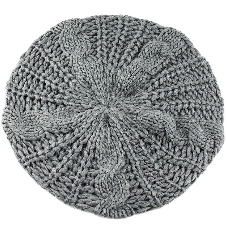 400584ce71f46 Béret tressé Crochet Chapeau Bonnet ski des Femmes Style Mode Tricotés  (Blanc): Amazon.fr: Vêtements et accessoires