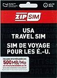 ZIP SIM データ通信専用(500MB、14日間)アメリカ用プリペイドSIM (※旧名称 READY SIM 2016年4月より商品名・パッケージが変更となりました)