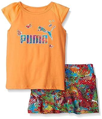 d9eb6450145a49 Amazon.com  PUMA Little Girls  Toddler Tee and Skort Set