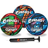 AND1 Mini Basketball Set for Kids (Deflated w/ Pump Included): - 3 Pack of Premium Youth Size Basketballs, Easy to Grip…
